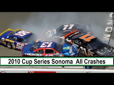 All NASCAR Crashes from the 2010 Toyota Savemart 350