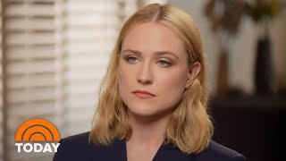 Evan Rachel Wood Talks About Her Fight For Domestic Abuse Victims   TODAY