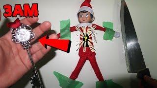 (SANTA'S MAGIC KEY?!) CUTTING OPEN HAUNTED ELF ON THE SHELF DOLL AT 3AM (INSIDE ELF ON THE SHELF)