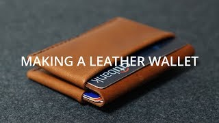Making a Simple Leather Wallet // DIY Leather craft