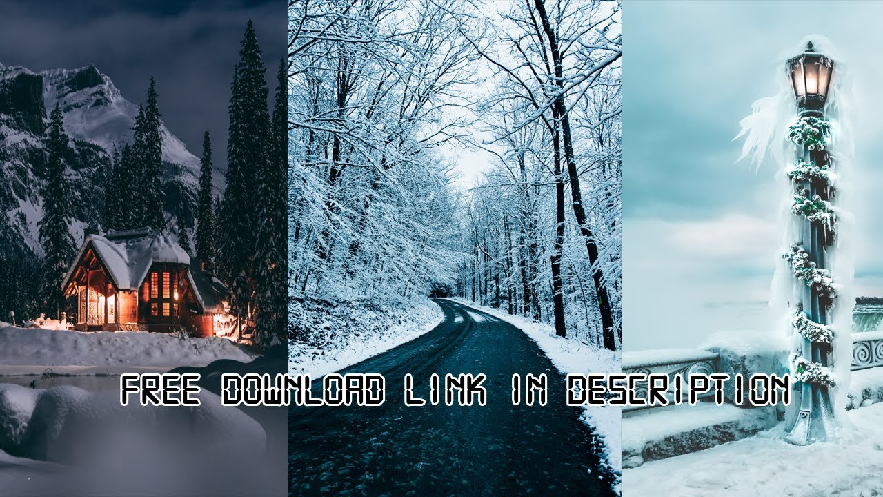 Make Phone Look Better 10 Snow Winter Wallpapers Free Download Link In Description Youtube