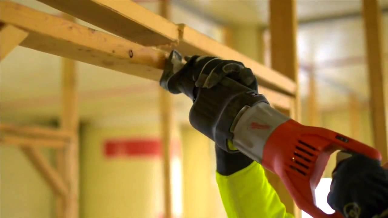 milwaukee 15a super sawzall reciprocating saw at home depot [ 1280 x 720 Pixel ]