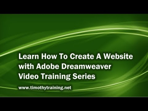 1 - Introduction to Dreamweaver Tutorial (CS5)