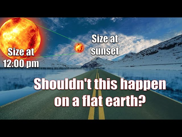THE SUN SHOULD SHRINK IF EARTH WERE FLAT