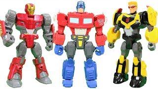 Marvel Super Hero Mashers Halloween Adventures W/ Iron Man, Captain America,  Optimus Prime & More!