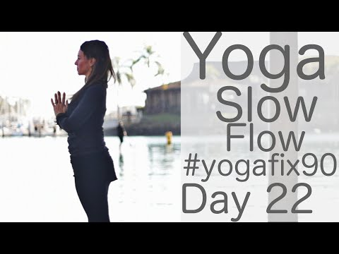 35 Minute Yoga Slow Flow Day 22 Yoga Fix 90 with Fightmaster Yoga