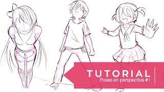 Tutorial ۰•●Aprende a dibujar 3 tipos de poses!●•۰ #5 Perspectiva - parte 1
