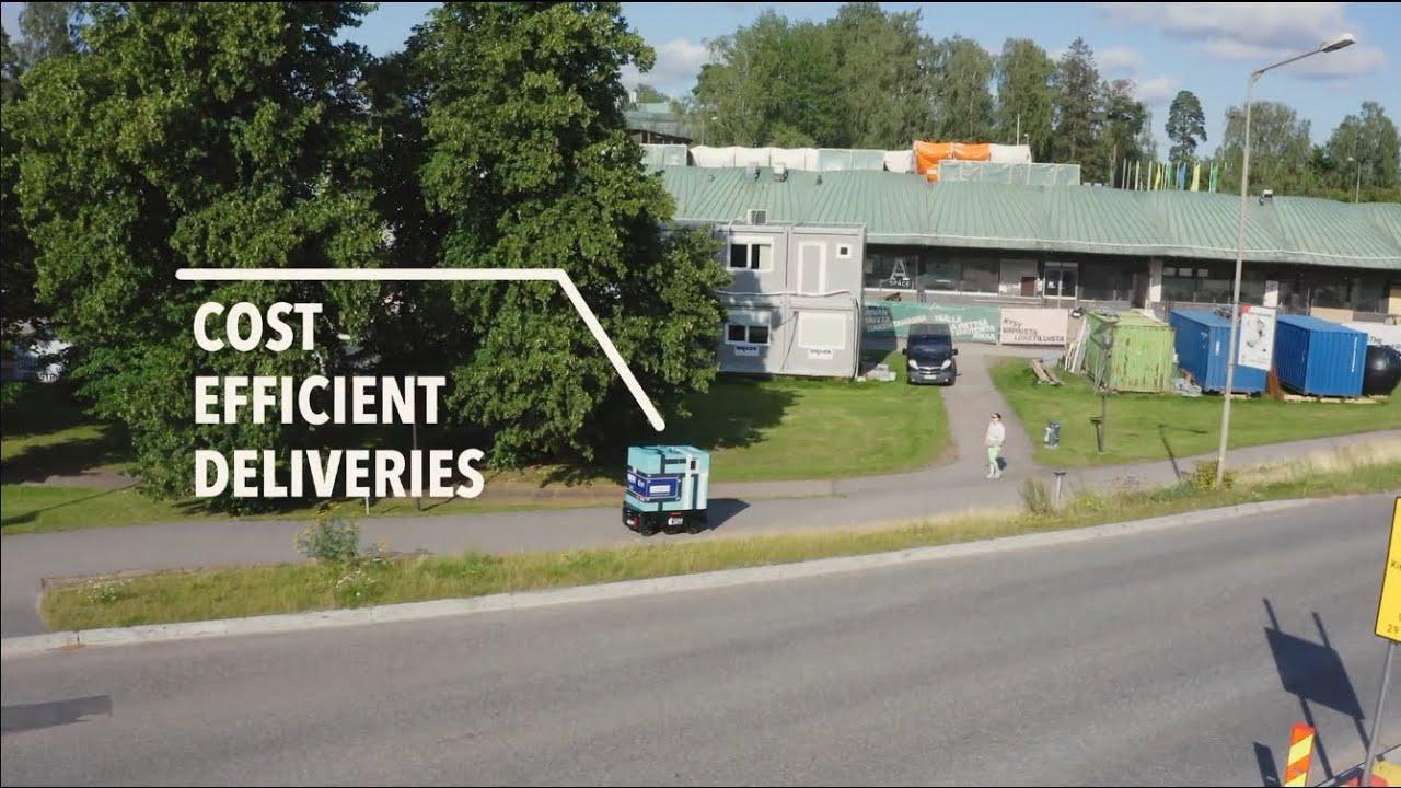 LMAD Autonomous grocery delivery pilot in Otaniemi, Finland