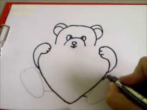 Como dibujar un oso de peluche. Como hacer un dibujo para ...