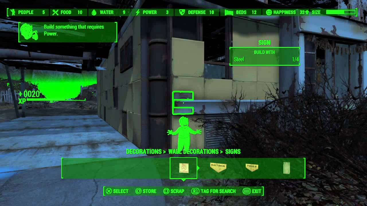 fallout 4 base building glitch ps4 cheat youtube