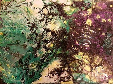 Fluid Painting 'Swipe#1' Free Your Mind Art