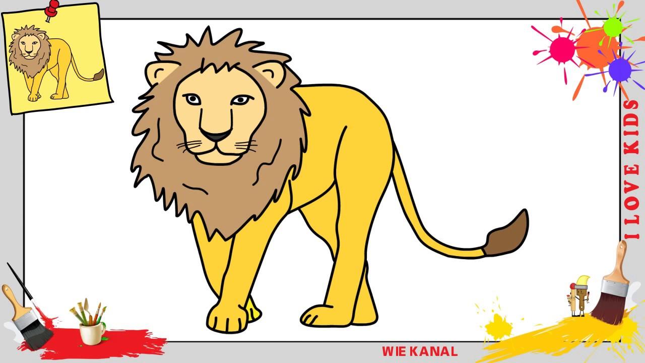 Löwe Zeichnen 2 Schritt Für Schritt Für Anfänger Kinder Zeichnen Lernen