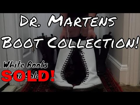 Dr. Marten's Boot Collection 14 and 20 eye Boots Collection! ASMR? White Boots SOLD!