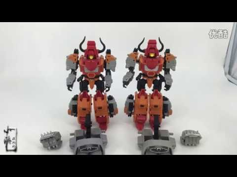 [Review] Neoart Toys Tantrum bison Headstrong Rhino ko NT VS mmc Robot Predaking Transformers NT-02