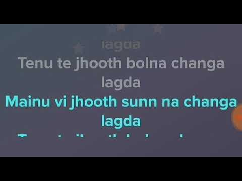 JHOOTH-GITAZ BINDRAKHIA-LYRICS VIDEO SONG -LURICS RECORDS