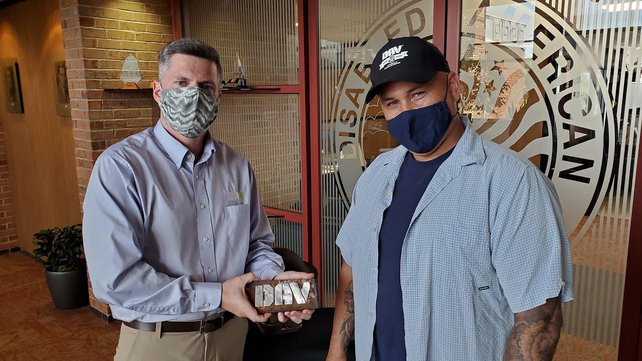 Marine Corps Veteran Donates WTC Steel for DAV Centennial Bell Casting