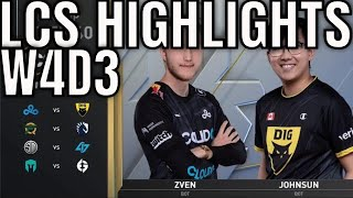 LCS Highlights ALL GAMES Week 4 Day 3 Summer 2020 League Championship Series