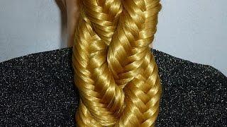 Плетение волос/косичек. Косичка Рыбий хвост.Красивая причёска для средних,длинных волос в школу
