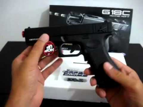 Pistola elétrica airsoft glock g18c tokyo marui 6mm brasil