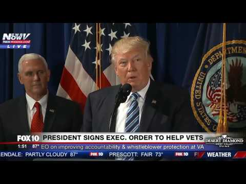 MAJOR: Trump Signs Executive Order on to Help Vets, Improve Veterans Affairs (VA) Dept. - FULL VIDEO