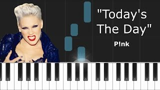 Pink - ''Today's The Day'' (Ellen Show Theme Song) Piano Tutorial - Chords - How To Play - Cover
