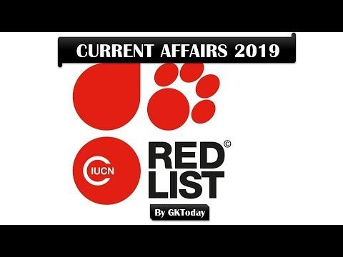 Current Affairs - 2019 : IUCN Red List Of Threatened Species