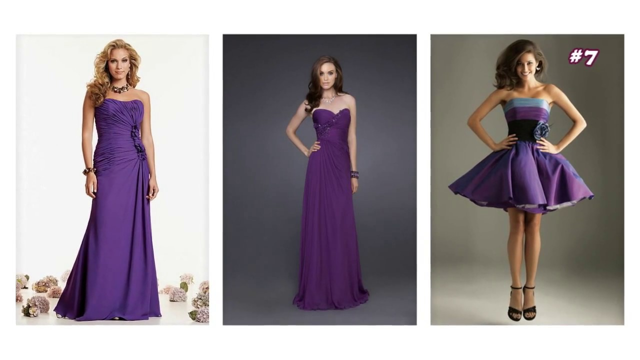 Top 100 Purple dresses, purple party dresses for women - YouTube