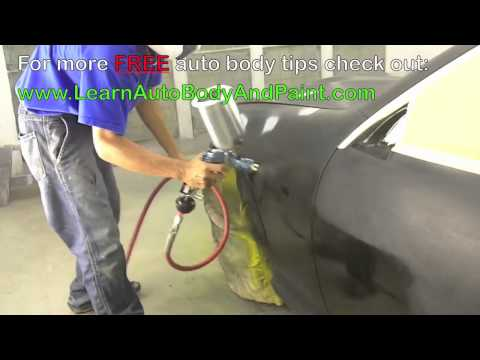 How To Spray Paint Your Car – Auto Body Repair School Training! Video 3/5