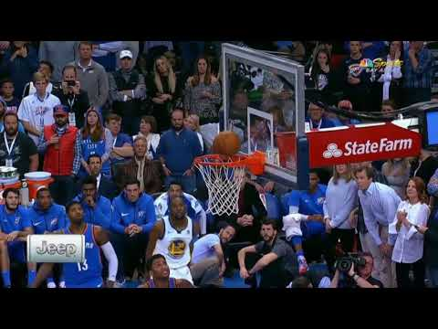 Andre Iguodala offensive rebound and dunk in one motion