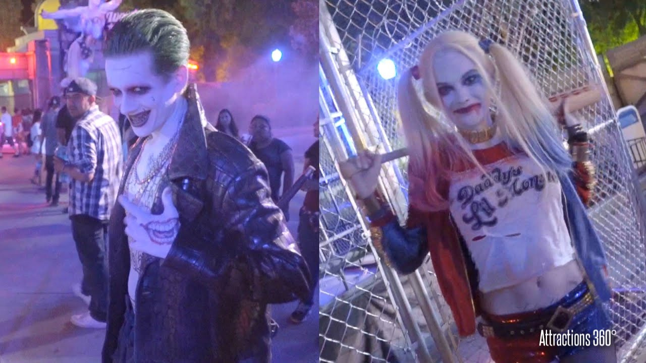 Suicide Squad Characters Meet & Greet Cosplay - Six Flags Fright Fest -  Joker & Harley Quin