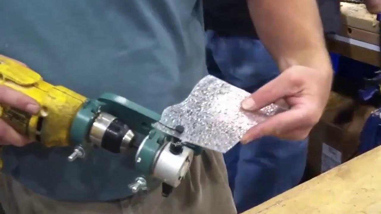 Double Head Sheet Nibbler Metal Cutter Youtube