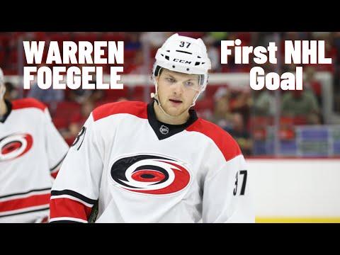 Warren Foegele #37 (Carolina Hurricanes) first NHL goal 26/03/2018