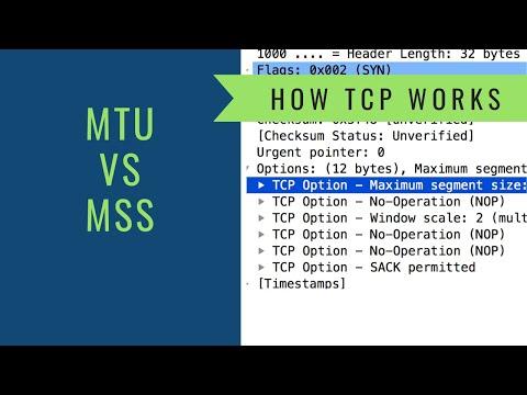 How TCP Works - MTU vs MSS