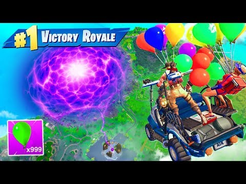 100 *NEW* BALLOONS + ATK does THIS In Fortnite Battle Royale!