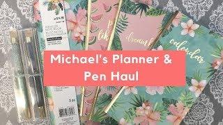 Planner Haul\\ft. Traveler's Notebooks & Pens from Michael's