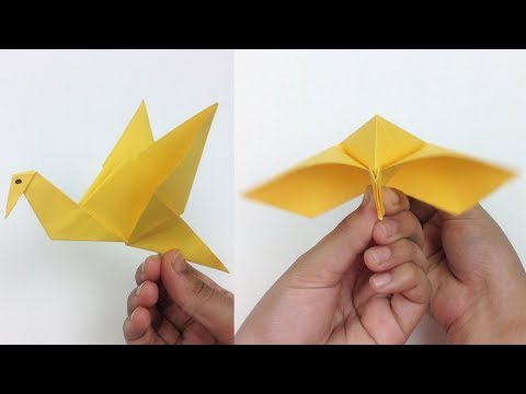 How to Make an Origami Flapping Bird - Easy Steps | Paper Bird Origami Flying Bird Tutorial DIY