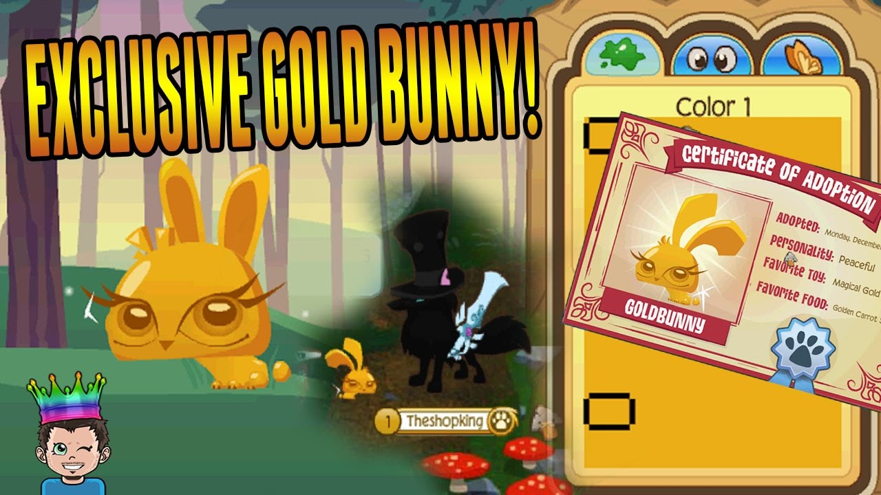 Animal Jam Exclusive �� Limited Edition Gold Pet Bunny!