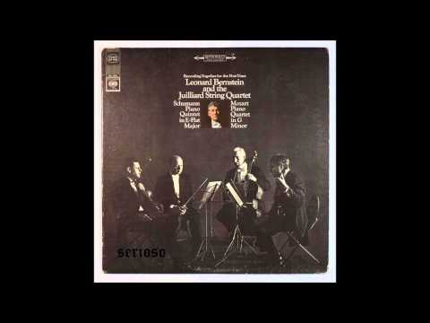 Schumann, Piano Quintet Op 44, Leonard Bernstein, Piano and Juilliard String Quartet