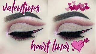 Valentines Heart Liner & Pink Cut Crease | alicekingg