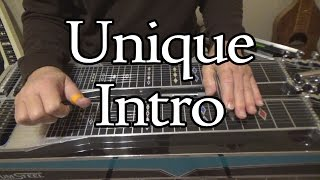 unique intro in c   pedal steel guitar lesson