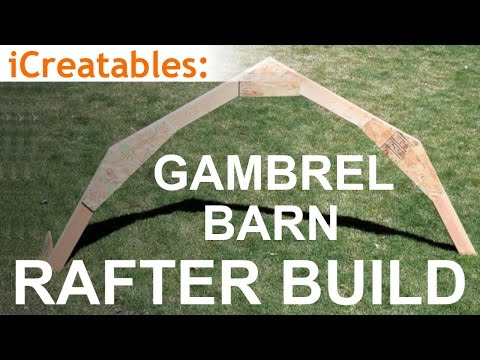 Gambrel Barn Rafter Build - Learn How To Build a Barn Roof ... on barn house plans with loft, horseshoe style house plans, tiny house plans, pole building house floor plans, barn guest house plans, ranch house plans, barn house interior, simple barn house plans, metal building house plans, cabin with gambrel roof house plans, barn house open floor plans, 3500 sq ft 2 story house plans, long small house plans, l-shaped house plans, barn inspired house plans, metal barn house plans, 5 bedroom barn house plans, 5-bedroom affordable house plans, barn homes,