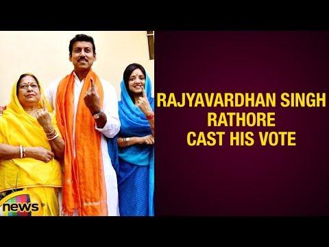 Union Minister Rajyavardhan Singh Rathore Cast His Vote In Jaipur | 2019 Lok Sabha Elections