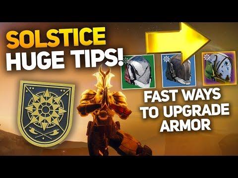 Fastest Methods for Upgrading Solstice Armor