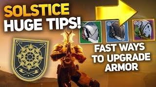 Fastest Methods for Upgrading Solstice Armor! - Cheese Steps/Tips for MMXIX Title