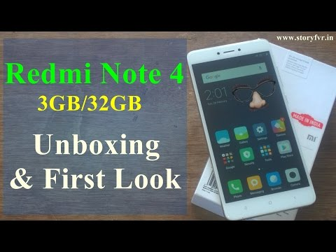 Xiaomi Redmi Note 4 - Unboxing and First Look