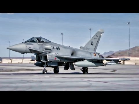 Spanish Eurofighter Typhoon Jets Takeoff At Red Flag 17-2