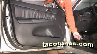 Toyota Camry - How to remove door panel to install speaker & tweeters Gen 5 2002 2003 2004 2005 2006