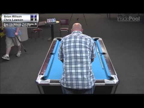 Chris Lawson vs Brian Wilson 1 at River City Billiards