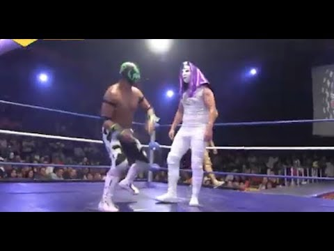 Karis la Momia Jr. (debut) y Parka Negra vs Argenis y Golden Magic, Legend