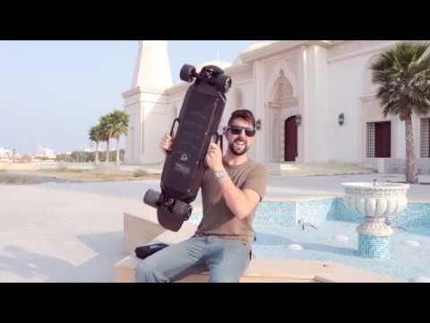 ENERTION RAPTOR 2 SKATEBOARD REVIEW   VIDEO BLOG #26   FUJAIRAH ELECTRIC LONGBOARD UAE SKATE